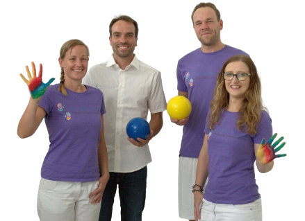 Das Team vom Gesundheitswerk Halle - Susan Schilling, Jens Schilling, Roy Angelus, Anne-Kathrin Hottenrott